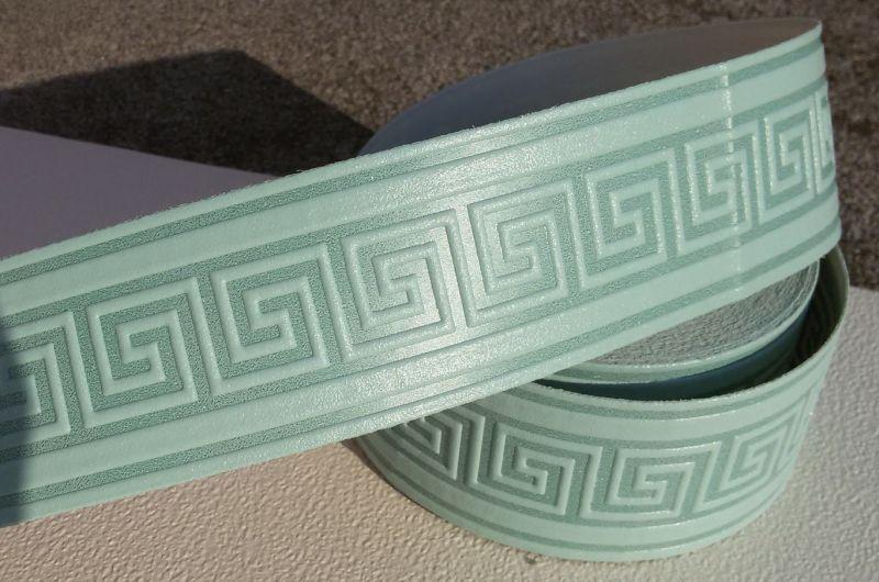 bordo adesivo greca verde effetto goffrato
