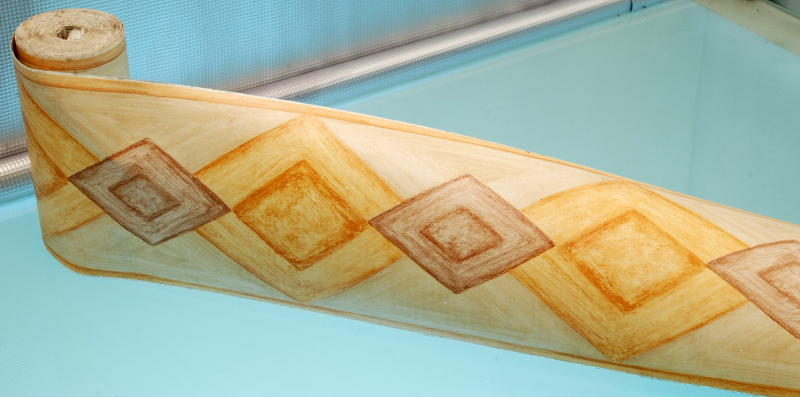 Bordo adesivo decorativo octagon marrone for Bordo adesivo decorativo