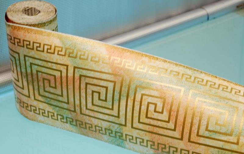 bordo adesivo greca dorata 174228