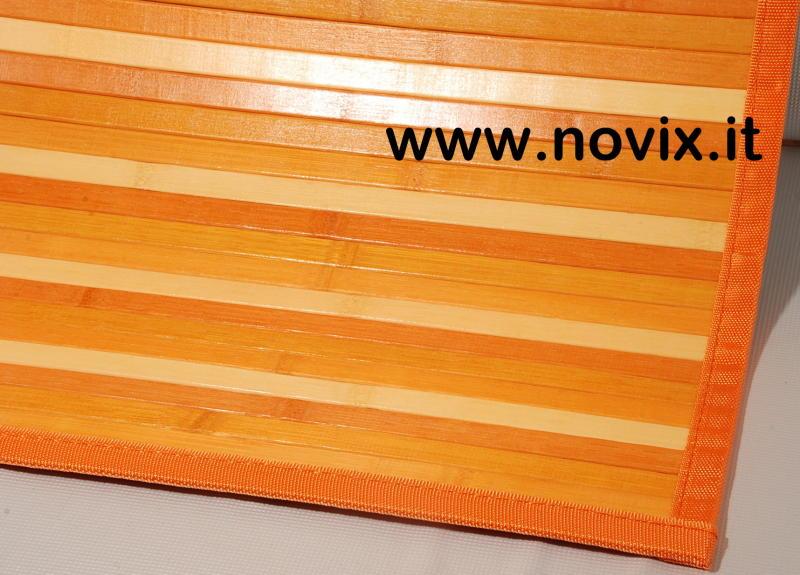 tapis bambou orange 55x280 cm. Black Bedroom Furniture Sets. Home Design Ideas