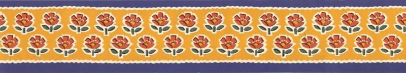 Bordo adesivo decorativo con i fiori rossi for Bordo adesivo decorativo