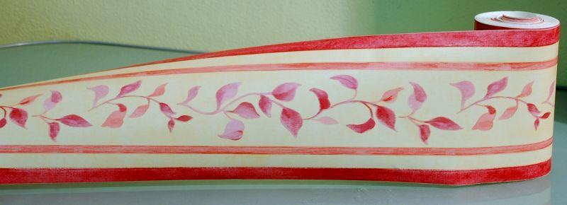 Bordo adesivo con foglie rose 174655 2 for Bordo adesivo decorativo