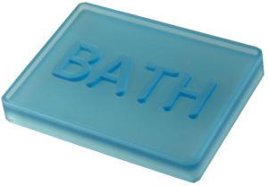 PORTA SAPONE BATH BLU TRASPARENTE