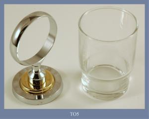 Porta bicchiere Cromato/oro
