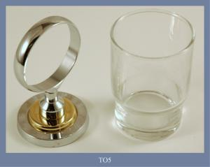 GLASS HOLDER CHROMATED/GOLD