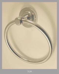 TOWEL RING IN BRASS CHROMATED/GOLD