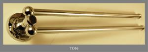 DOUBLE TOWEL RAIL IN BRASS CHROMATED