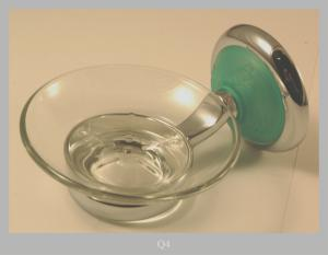 SOAP DISH IN BRASS CHROMATED VERDE