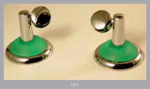 MIRROR HOLDER IN BRASS CHROMATED VERDE
