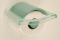 TOILET ROLL HOLDER IN TRANSPARENT PLASTIC GREEN