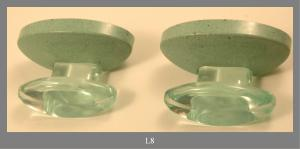 ROBE HOOKS IN TRANSPARENT PLASTIC GREEN