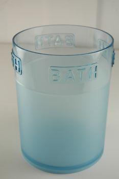 Abfalleimer blau Acryl-BAD