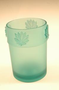 Bicchiere porta spazzolino Foglia verde