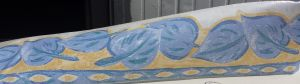 BORDO ADESIVO TRIBAL LEAF BLUE/YELLOW