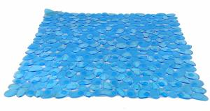 Tapis Douche bleu