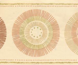 BORDO ADESIVO BATIK CIRCLES NATURAL