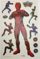 STICKER MURALE POWER RANGERS DIM: 50 X 30 CM