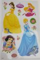 STICKER MURALE DISNEY PRINCESS  DIM: 50 X 30 CM