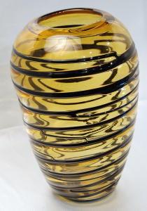 Vase décoratif jaune