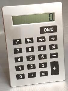 Calcolatrice gigante grigio
