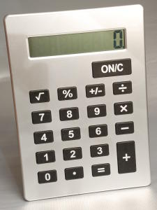 Calculatrice géant gris