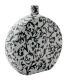 Dekorative Vase weiß / schwarz.  Dim: 30.5x28x8 cm.