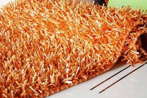 Tappeto Shaggy-Spaghetti arancione