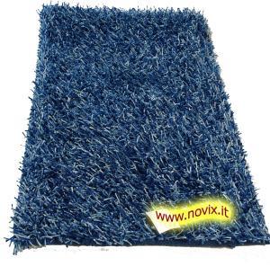 Shaggy Carpet Spaghetti-blue