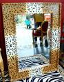 Specchio moderno tigrato