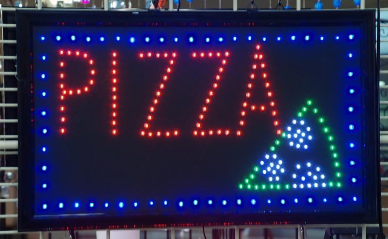 panneau enseigne lumineuse a led pizza. Black Bedroom Furniture Sets. Home Design Ideas