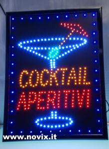 INSEGNA LED COCKTAIL APERITIVI