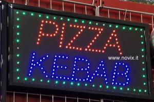 Écriteau lumineux Pizza Kebab