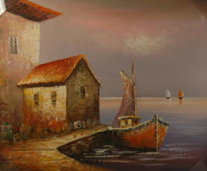 Gemälde - Öl auf Leinwand dim.48HX58L