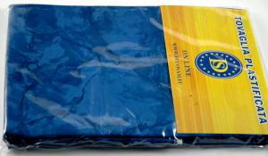 Blue plasticized tablecloth 50-TC2071 Dim.140x160 cm.