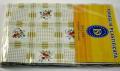 Plastic tablecloth size 140x160 cm.