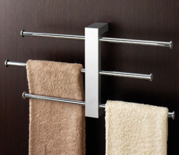 Towel bar with 3 sliding