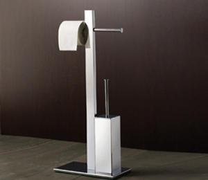 Floor lamp with double roll and brush