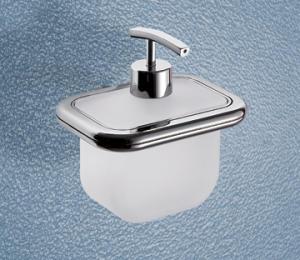 Distributeur de savon chromé avec bec verseur
