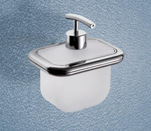 Soap dispenser with spout Chrome