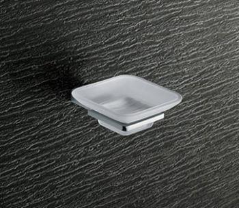 Porte-savon avec verre dépoli pan cm.10, 5x13, 2x4