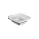 Soap dish with frosted glass pan cm.10, 5x13, 2x4