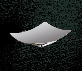 Porte-savon avec cuve en acier inoxydable cm.14, 5x13, 7x3, 3