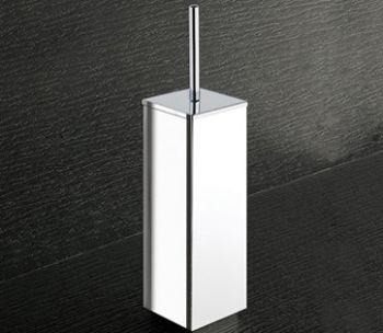 Brosse WC avec touffe de poils cm.8, 7x8, 7x36