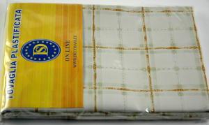 Plasticized tablecloth TC581 Dim. 140 x 230 cm.