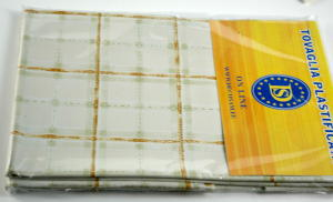 Plasticized tablecloth TC581 Dim.140x180 cm.