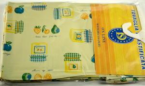 Plastic Tischdecke Größe 140x180 cm.