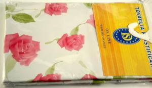 Plastic tablecloth size 140x180 cm.