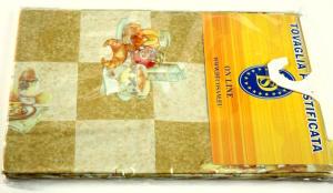 Plasticized tablecloth TC1593 Diam. 160 cm