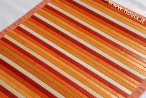 TAPPETO BAMBÙ  DEGRADE ARANCIONE   60x100