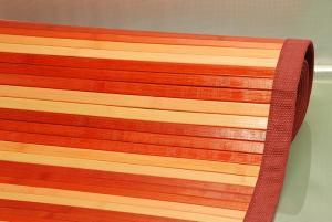 TAPIS BAMBOU ROUGE 60x100 cm